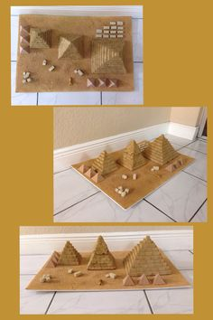 Pyramids of Egypt. make with brown sugarlumps