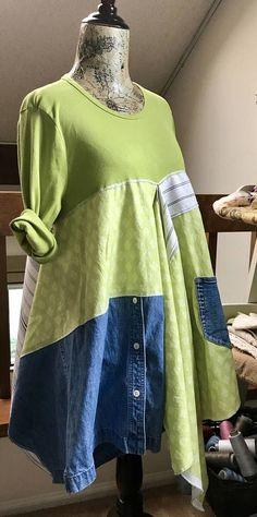 Med/Lg Tunic/Dress Lagenlook / Artsy / Upcycled / Funky