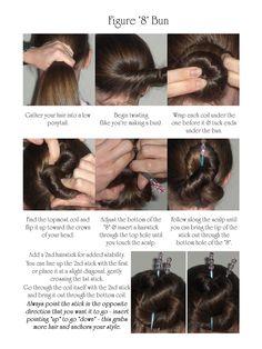figure 8 hair stick bun