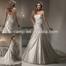silver wedding dresses fit and flare - Google Search