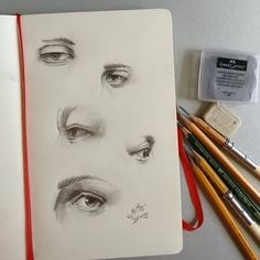 Instagram: «Eyes day. New sketch on my #moleskine . . . . . . . . . . . . . . #sketch #nose #SKETCHING #beauty…»