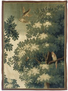 TAPESTRY FRAGMENT -  FIRST HALF 18TH CENTURY