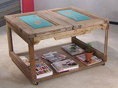Manualidades y Artesanías | Mesa con puerta y pintura de tapa | Utilisima.com