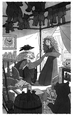 Gurihiru — Sketch and a few interior art for Merida novels. Character Sketches, Character Design Animation, Character Design References, Character Concept, Concept Art, 2d Character, Couple Cartoon, Art Background, Illustrations