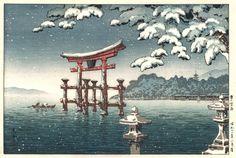 SCHNEE IN MIYAJIMA..........BY TSUCHIYA KOITSU........SOURCE ASIEN - ZUHAUSE.CH..........