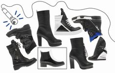 A/W 2014-15 #Boots #shoes #Fred #collection #outfit #fashion #style #black&white #black #white