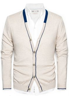 HE BY MANGO - Cashmere cotton-blend cardigan #SS14 #Menswear