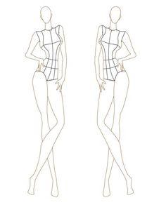 Fashion Croquis for Garment Design