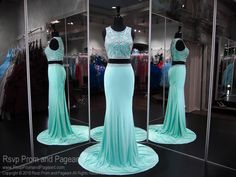 Two piece fit dress with sparkling trim details and covered back! And it's at Rsvp Prom and Pageant, your source for the HOTTEST Prom and Pageant Dresses! Mint Homecoming Dresses, Aqua Prom Dress, Pageant Dresses, Sexy Dresses, Short Dresses, Formal Dresses, Aqua Dresses, Mint Dress
