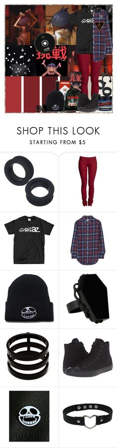 """~You've got to press it on you~"" by chemicalfallout249 ❤ liked on Polyvore featuring Apex, Band of Outsiders, Hot Topic, Repossi, Converse and Manic Panic NYC"