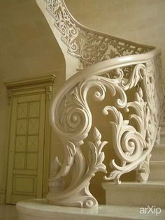 Carved railings