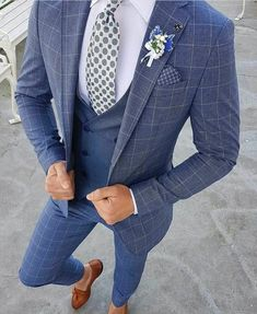 Men suits for the modern man. big tall mens designer suits, best mens designer suits, click visit link for Formal Suits, Men Formal, Formal Wear, Mens Fashion Suits, Mens Suits, Groom Suits, Navy Suits, Mens Slim Fit Suits, Mens Check Suits