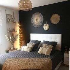 There are some incredible free resources for finding great home decor ideas, but we'll get to them in a moment. Before you decide upon what type of home decor you are going to put into your home you needed to some homework. Gold Bedroom, Home Decor Bedroom, Bedroom Wall, Bedroom Ideas, Bedroom Styles, Bedroom Colors, Dining Room Design, Room Inspiration, Daily Inspiration