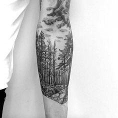 kol dövmeleri erkek forest arm tattoos for men