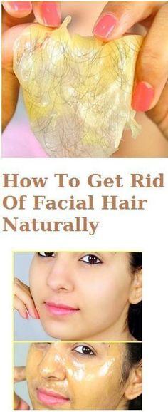 How To Get Rid Of Facial Hair Naturally - #facial #beauty #hair #rid #naturally