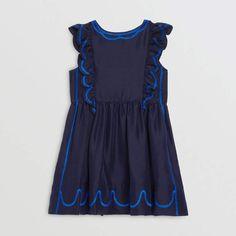 NWT Gymboree 6 STRIPES /& ANCHOR Girls Blue Sky Striped Cotton Sailor Dress TWIN
