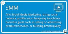 Social Media Marketing (or SMM) is the blanket term for any type of marketing using social media.   #DigitalMarketing | #SocialMediaMarketing | #SMM Content Marketing, Social Media Marketing, Digital Marketing, Marketing Definition, Brand Building, Online Advertising, Business Goals, Influencer Marketing, Definitions
