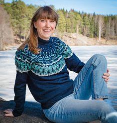 Hønsestrikk - chickenknitting: Nordlysgenser - Northern Lights sweater