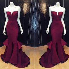 Burgundy prom Dress,Mermaid Prom Dresses,Formal prom Dress,2016 prom dress,Evening dress,BD061