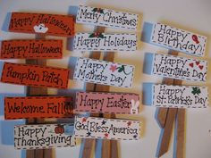 Choice of one - Fairy Garden Sign - Miniature Garden Hand painted holiday signs