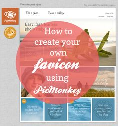 how to make your own favicon using picmonkey