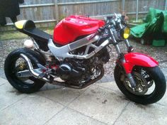 Honda VTR 1000 Cafe racer / fighter Just mounted oil cooler . Got the rad left to do .