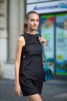 "c84fafa0a28 fashion elegance luxury beauty — MFW Street Style source Harper""s Bazaar"