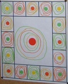 This year, Kindergartens have observed different works and worked different forms. First, the rounded shapes with the round and the spiral . Pre Writing, Writing Skills, Kindergarten Lesson Plans, Preschool Art, Elements Of Art, Art Activities, Elementary Art, Fine Motor, Art School