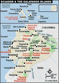 Good, detailed map of Ecuador