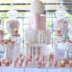 White and pink candy corner