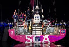 January 27, 2015. Team SCA arrives in Sanya in sixth position, after 23 days of sailing. - Victor Fraile/Volvo Ocean Race