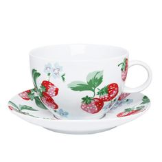 Strawberry Large Cup & Saucer