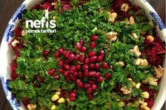 Pancar Salatası Tarifi Turkish Salad, Appetizer Salads, Bulgur, Turkish Recipes, Seaweed Salad, Vegetable Recipes, Salad Recipes, Tart, Meze Salata