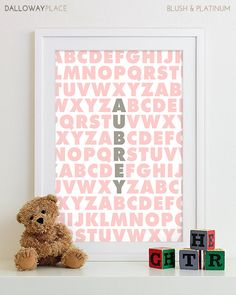 Baby Girl art, Girl nursery decor, baby Girl wall art baby Girl decor, Girl nursery print Girl nursery art Family Playroom Rules Sign Subway