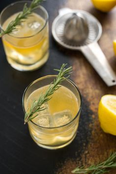 This bourbon sour with lemon & rosemary is a modern twist on a classic cocktail. This herb-infused whiskey drink is perfect for the fall and winter months!