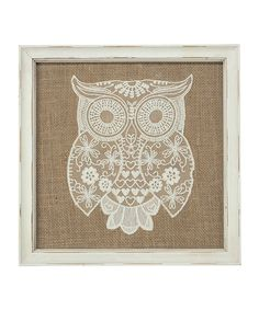 Love this Lacey Owl Wall Art on #zulily! #zulilyfinds