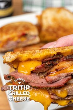 Buttery Steakhouse Tri-Tip Grilled Cheese – Kinder's BBQ Grilled Cheese Recipes, Ham Recipes, Sandwich Recipes, Grilled Cheeses, Dinner Recipes, Cooking Recipes, Catering Recipes, Recipies, Tri Tip Grill