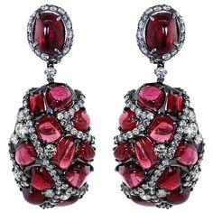 Arunashi Spinel And Diamond Earrings (3415390 ALL) ❤ liked on Polyvore featuring jewelry, earrings, 18k earrings, diamond jewellery, arunashi, arunashi jewelry and 18k diamond earrings