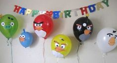 Angry birds balloons. My son would love these!