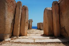 Megalithic Temples of Malta, Gozo and Malta Island, Malta (UNESCO World Heritage Site) Gozo is said to have been the home of Calypso! Ancient Buildings, Ancient Architecture, Mediterranean Architecture, Malta Island, Saint Jean, Ancient Ruins, Ancient History, Historical Sites, World Heritage Sites