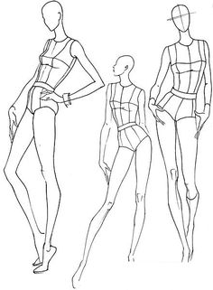 Plantillas base figurines de moda, poses de movimiento #fashion www.figurinesdemoda.com
