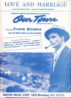 Love and Marriage 1953 Sheet Music Producers Showcase Our Town Frank Sinatra