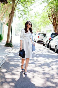 Striped Midi Dress /