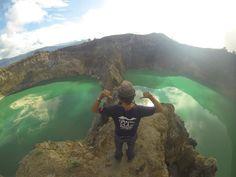 Kelimutu Mountain, 3 Color Crater