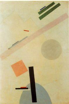 マレーヴィチ 「シュプレマティズム ペインティング」1917 Oil on canvas 96.5 x 65.4 cm ニューヨーク近代美術館