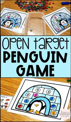 This fun penguin themed game is a great way to motivate students to engage in drill work during speech therapy sessions. This game can be used with PK, kindergarten, first graders and second graders. This game is also appropriate for students working on turn taking, and basic game play. It is also a fun way for students to practice basic number recognition. This winter game is can be played in small or larger groups. Click here to see more of this fun game for your early elementary students!