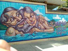 """""""El amor nuenvejece"""" Mural en San Pedro de Vilcabamba"""