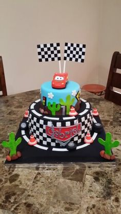 Fondant Cars cake
