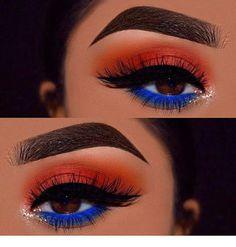 Gorgeous Makeup: Tips and Tricks With Eye Makeup and Eyeshadow – Makeup Design Ideas Makeup Eye Looks, Blue Eye Makeup, Cute Makeup, Gorgeous Makeup, Pretty Makeup, Skin Makeup, Beauty Makeup, Makeup Eyeshadow, Beauty Care
