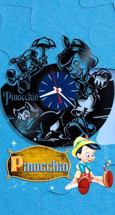 #vinyl_clock #pinocchio #disney #disneyart #disneyfun #home_decor #christmas_present #birthday_present #home_decorating_ideas